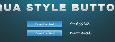 Free Aqua Style Button PSD